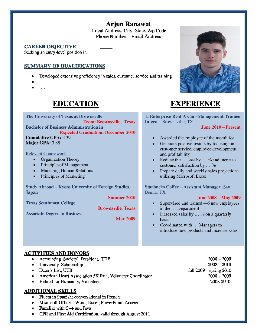 Cv Samples Download Best Cv Samples Cv Formats