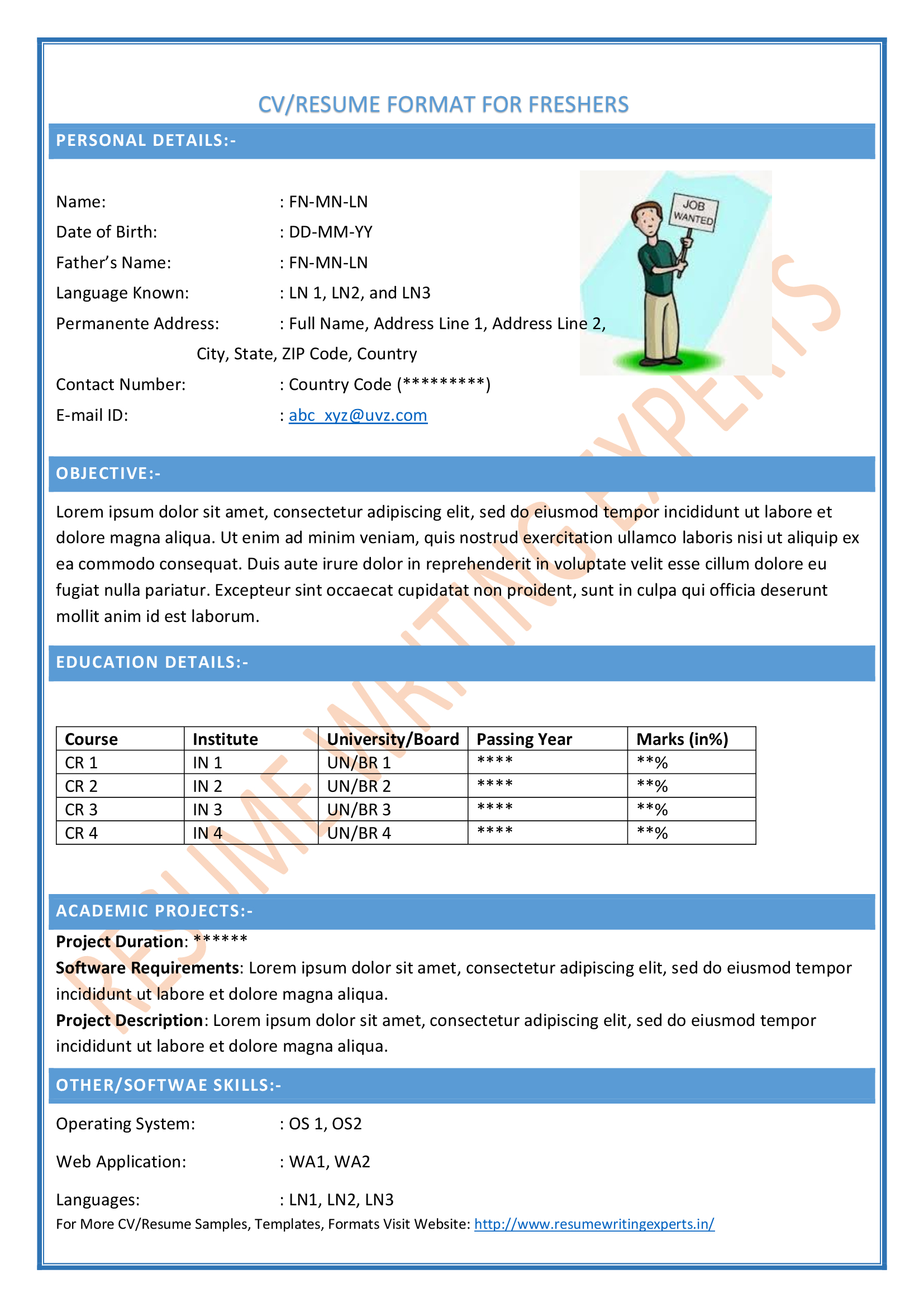 latest cv format accountant over cv and resume samples with free download ca professional