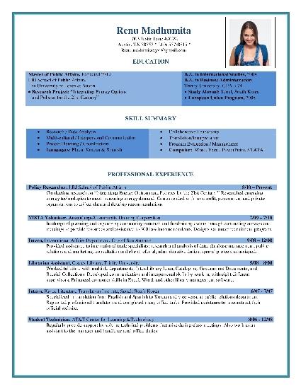 Curriculum Vitae Format Best Cv Formats Cv Formats